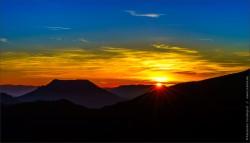 coucher de soleil sur les hauteurs de breitenbach